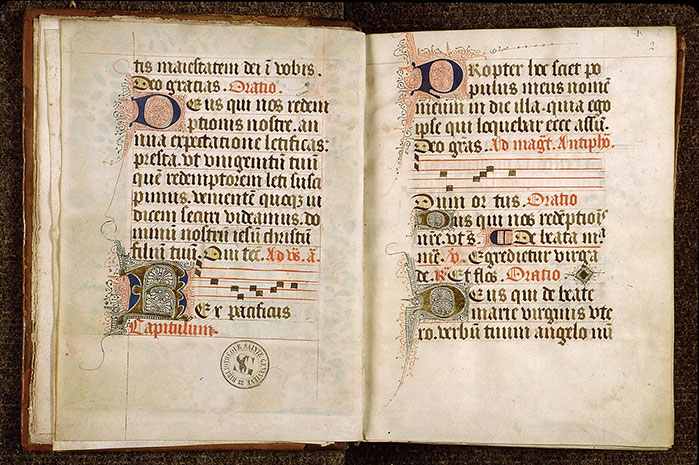 Paris, Bibl. Sainte-Geneviève, ms. 1272, f. 001v-002