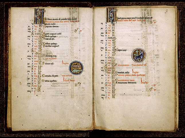 Paris, Bibl. Sainte-Geneviève, ms. 1273, f. 002v-003
