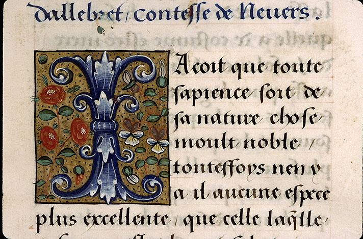 Paris, Bibl. Sainte-Geneviève, ms. 2217, f. 003