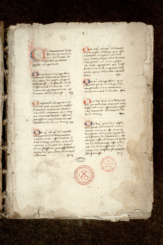 Paris, Bibl. de l'Institut de France, ms. 0001, f. 001 - vue 2