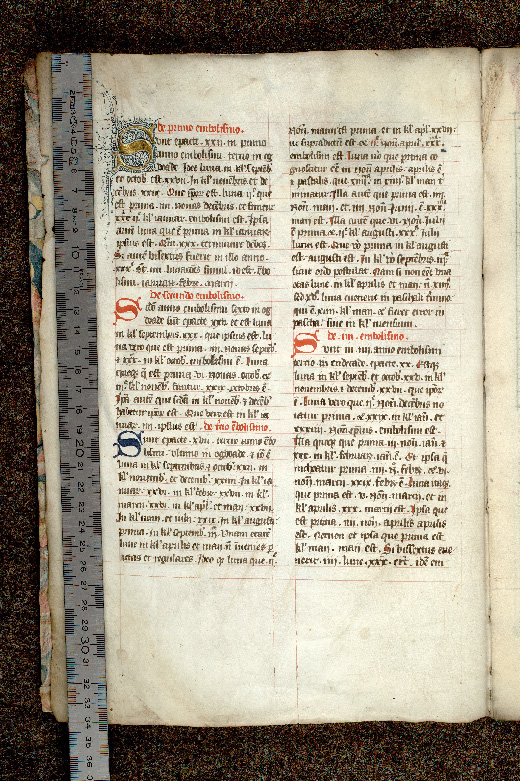 Paris, Bibl. de l'Institut de France, ms. 0004, f. 001v - vue 1