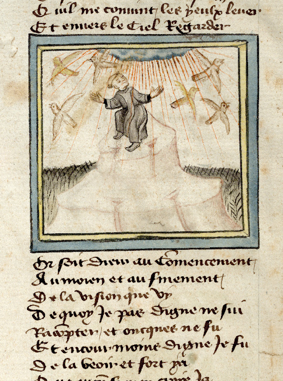 Paris, Bibl. de l'Institut de France, ms. 0009, f. 001v