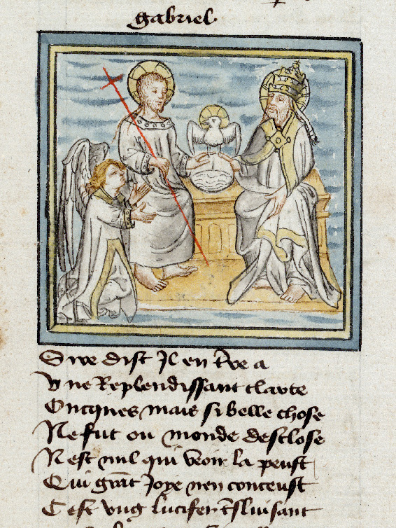 Paris, Bibl. de l'Institut de France, ms. 0009, f. 008 - vue 1
