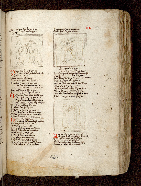 Paris, Bibl. de l'Institut de France, ms. 0009, f. 152 - vue 1