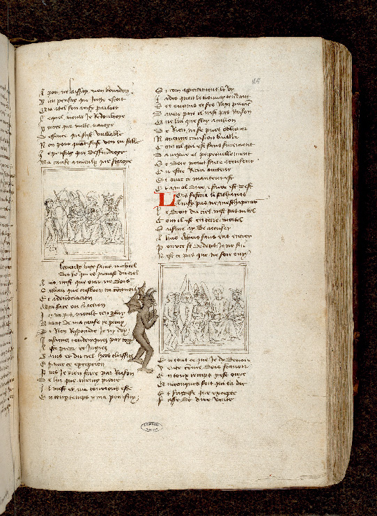 Paris, Bibl. de l'Institut de France, ms. 0009, f. 165 - vue 1