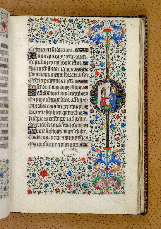 Paris, Bibl. de l'Institut de France, ms. 0547, f. 045 - vue 1