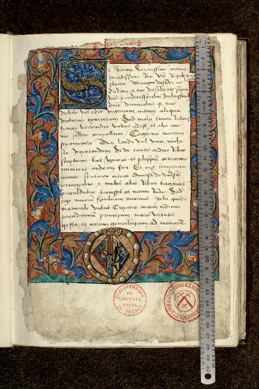 Paris, Bibl. de l'Institut de France, ms. 0679, f. 001 - vue 1