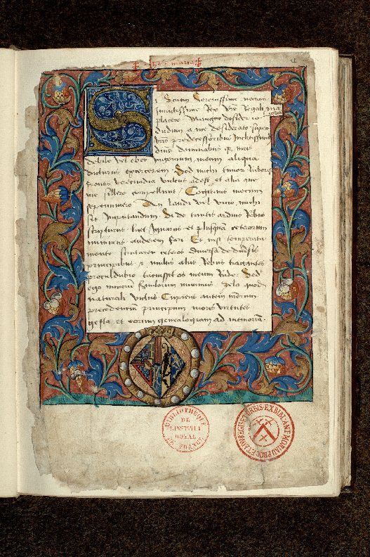 Paris, Bibl. de l'Institut de France, ms. 0679, f. 001 - vue 2