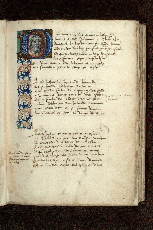 Paris, Bibl. de l'Institut de France, ms. 0679, f. 009 - vue 1