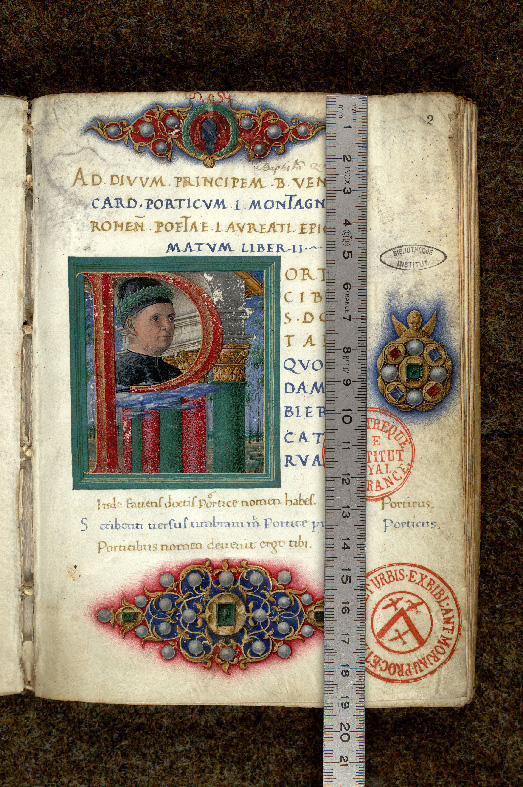 Paris, Bibl. de l'Institut de France, ms. 0806, f. 002 - vue 1
