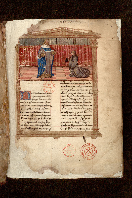 Paris, Bibl. de l'Institut de France, ms. Godefroy 321, f. 001 - vue 2