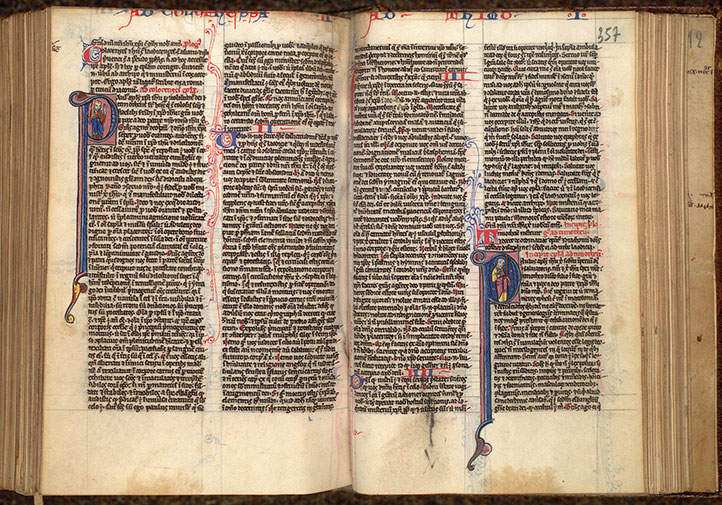 Paris, Bibl. Mazarine, ms. 0024, f. 356v-357