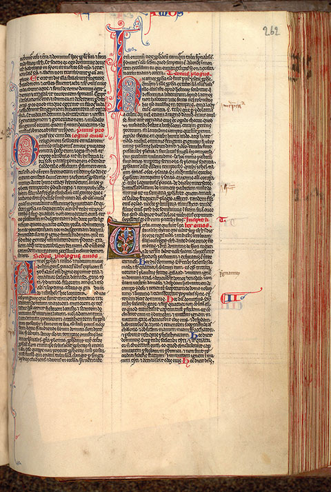Paris, Bibl. Mazarine, ms. 0032, f. 262