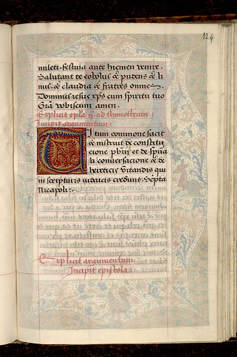 Paris, Bibl. Mazarine, ms. 0062, f. 124