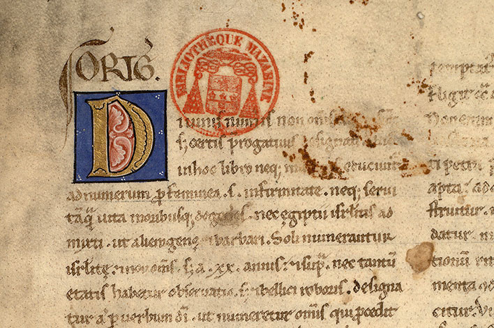 Paris, Bibl. Mazarine, ms. 0080, f. 001