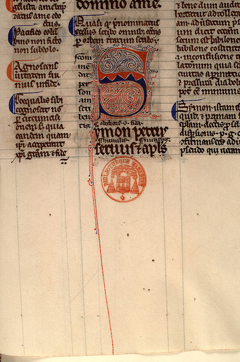 Paris, Bibl. Mazarine, ms. 0123, f. 132