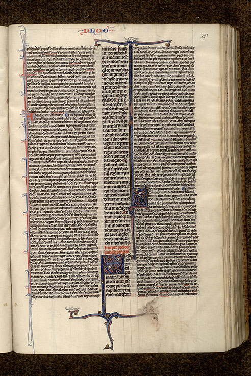Paris, Bibl. Mazarine, ms. 0145, f. 161