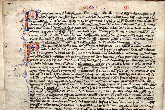 Paris, Bibl. Mazarine, ms. 0180, f. 001v