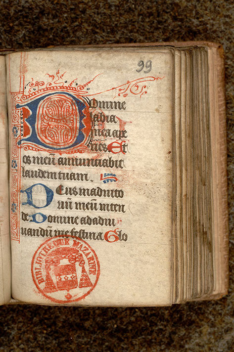 Paris, Bibl. Mazarine, ms. 0474, f. 099