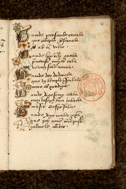 Paris, Bibl. Mazarine, ms. 0477, f. 004