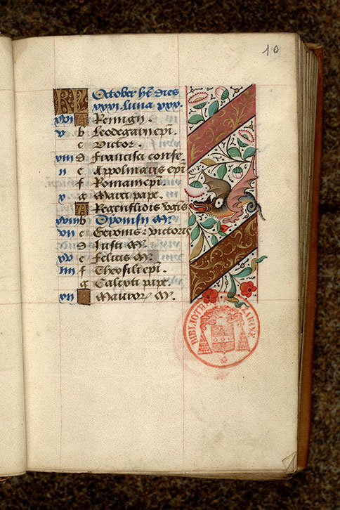 Paris, Bibl. Mazarine, ms. 0488, f. 010