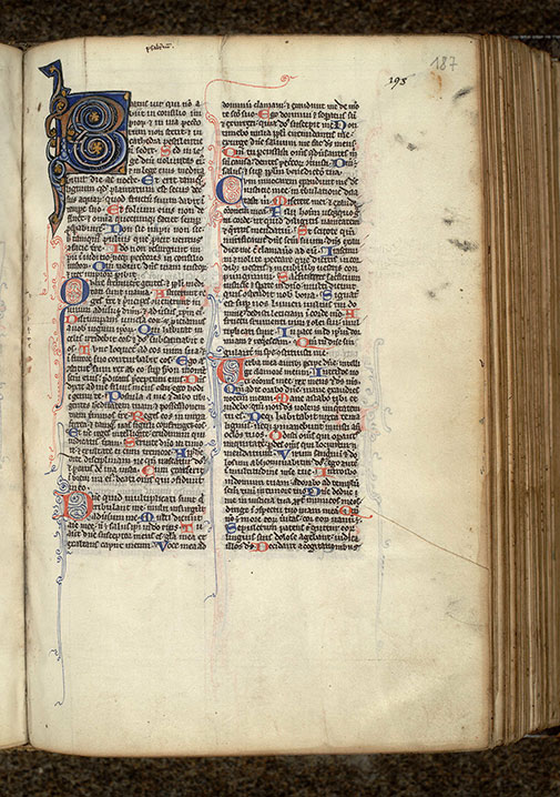 Paris, Bibl. Mazarine, ms. 0016, f. 187