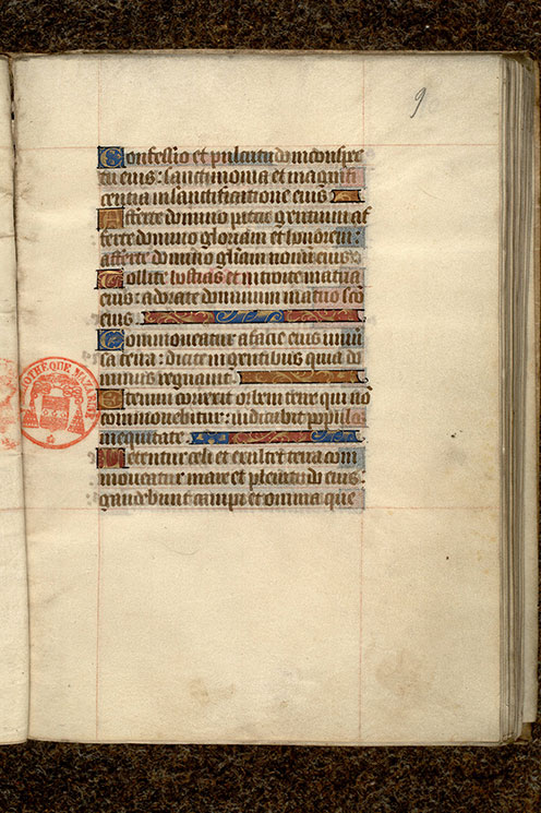 Paris, Bibl. Mazarine, ms. 0496, f. 009