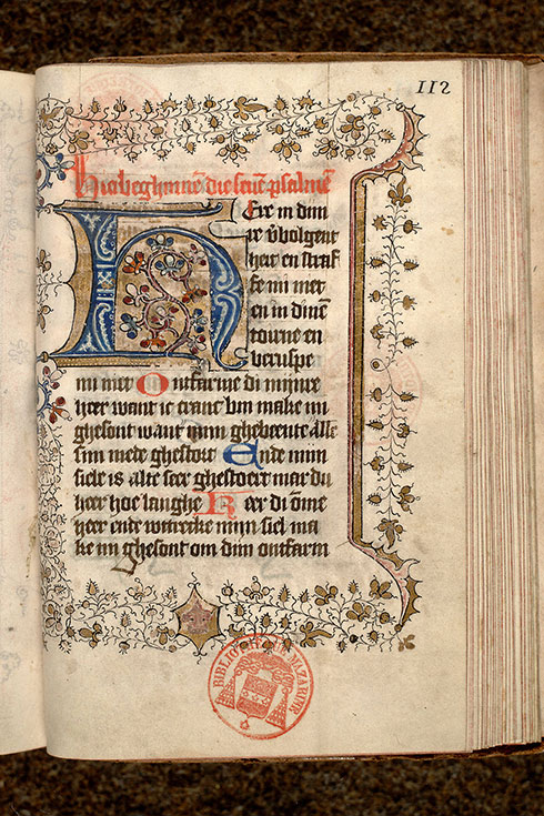 Paris, Bibl. Mazarine, ms. 0500, f. 112