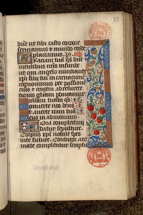 Paris, Bibl. Mazarine, ms. 0501, f. 039