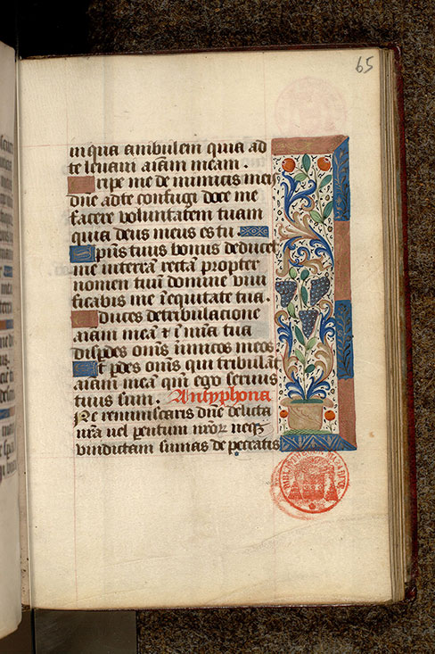 Paris, Bibl. Mazarine, ms. 0501, f. 065
