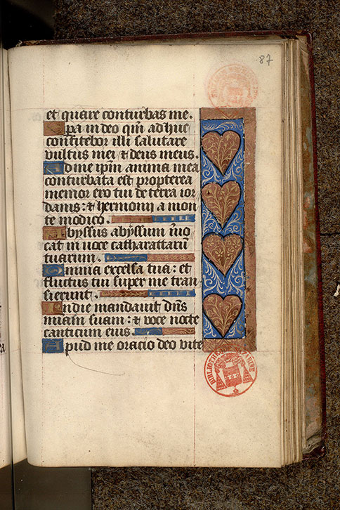 Paris, Bibl. Mazarine, ms. 0501, f. 087