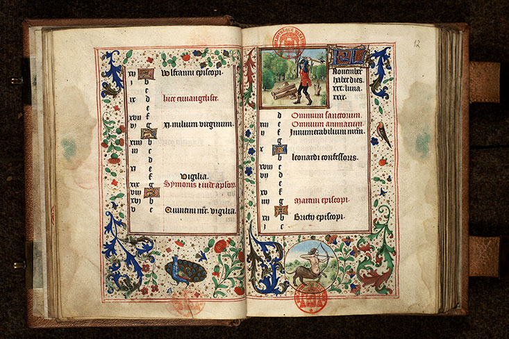 Paris, Bibl. Mazarine, ms. 0502, f. 011v-012