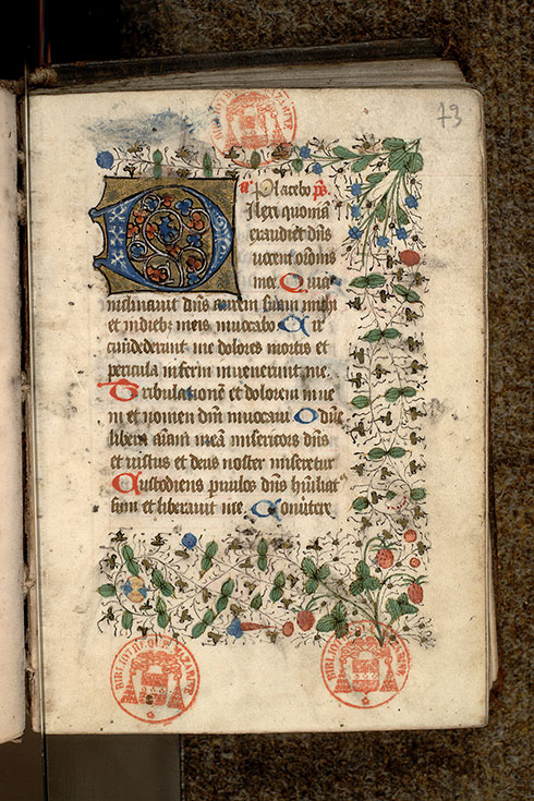 Paris, Bibl. Mazarine, ms. 0503, f. 073