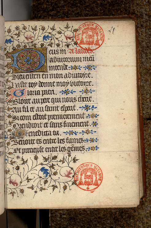 Paris, Bibl. Mazarine, ms. 0509, f. 028
