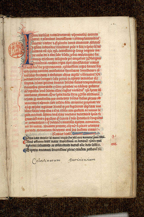 Paris, Bibl. Mazarine, ms. 0516, f. 002