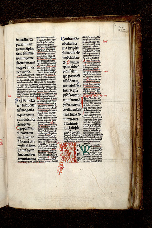 Paris, Bibl. Mazarine, ms. 0265, f. 210