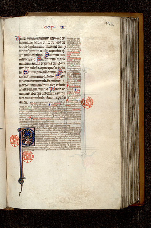 Paris, Bibl. Mazarine, ms. 0266, f. 132