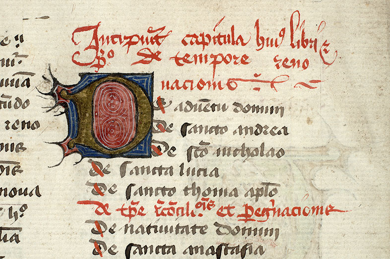 Paris, Bibl. Mazarine, ms. 1727, f. 001v