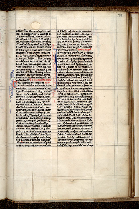 Paris, Bibl. Mazarine, ms. 0307, f. 184