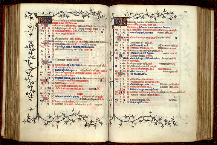 Paris, Bibl. Mazarine, ms. 0341, f. 152v-153