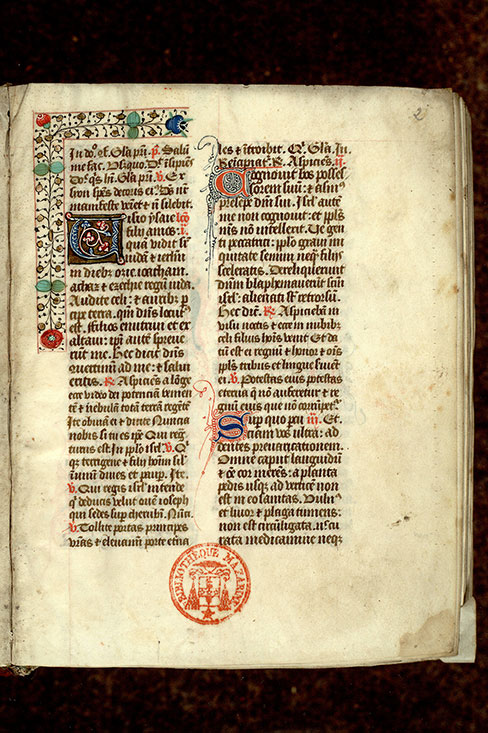 Paris, Bibl. Mazarine, ms. 0350, f. 002