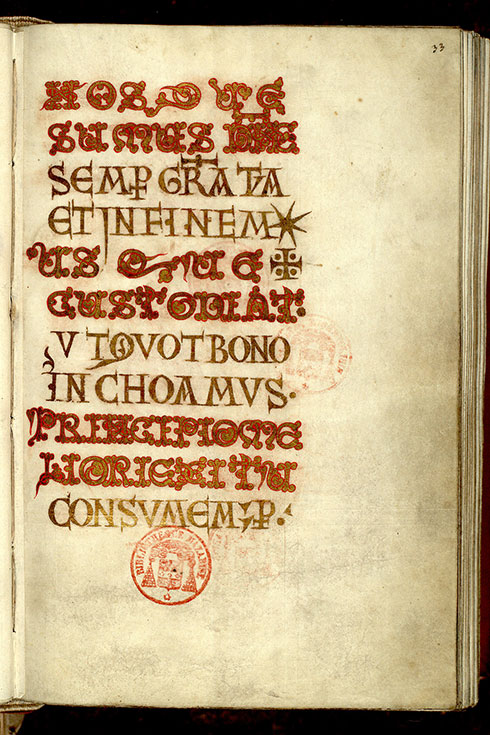 Paris, Bibl. Mazarine, ms. 0364, f. 033
