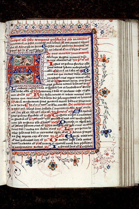 Paris, Bibl. Mazarine, ms. 0368, f. 219