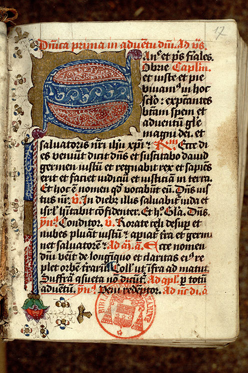 Paris, Bibl. Mazarine, ms. 0370, f. 017