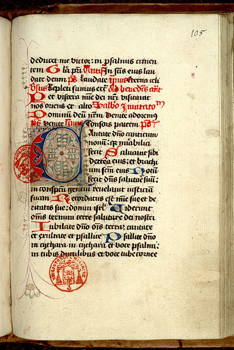 Paris, Bibl. Mazarine, ms. 0377, f. 105
