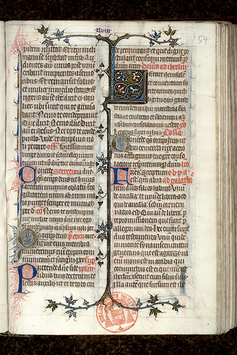 Paris, Bibl. Mazarine, ms. 0419, f. 054