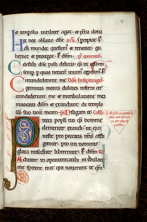Paris, Bibl. Mazarine, ms. 0431, f. 029