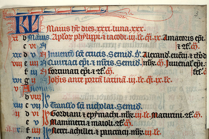 Paris, Bibl. Mazarine, ms. 0434, A f. 003