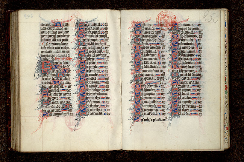 Paris, Bibl. Mazarine, ms. 0443, f. 249v-250