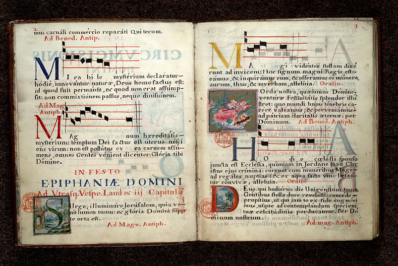 Paris, Bibl. Mazarine, ms. 0444, p. 002-003